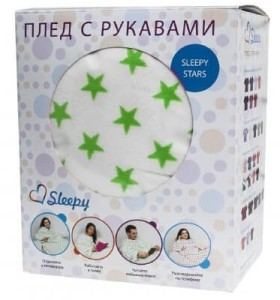 Плед с рукавами Sleepy (Stars, Original, Luxury)